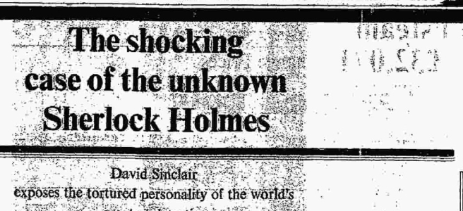 The shocking case of the unknown Sherlock Holmes